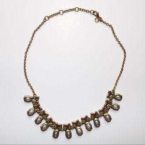 J. Crew Jewelry - J. Crew Gold Blue Turquoise Crystal Necklace